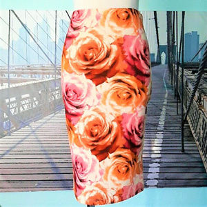 ASOS Jayvee floral pencil skirt, sz S, runs small